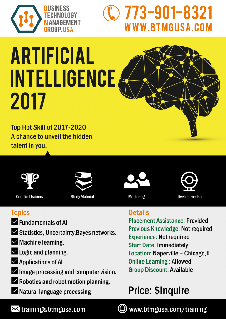 Artificial Intelligence Training Offered By Btmg Usa