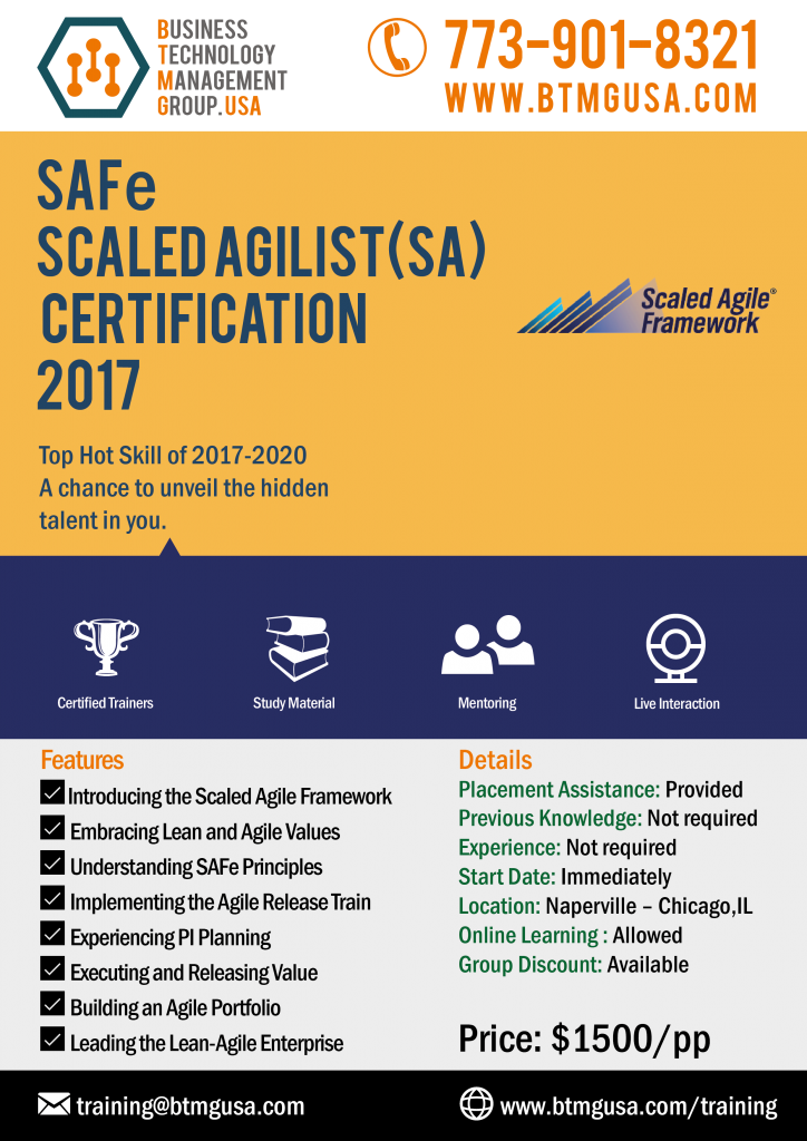 Safe Scaled Agilist Sa Certification