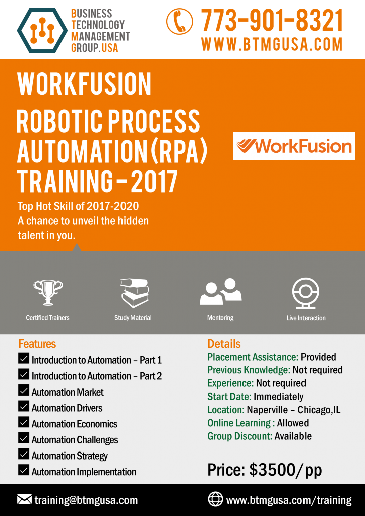 Workfusion Robotic Process Automation (RPA) Training