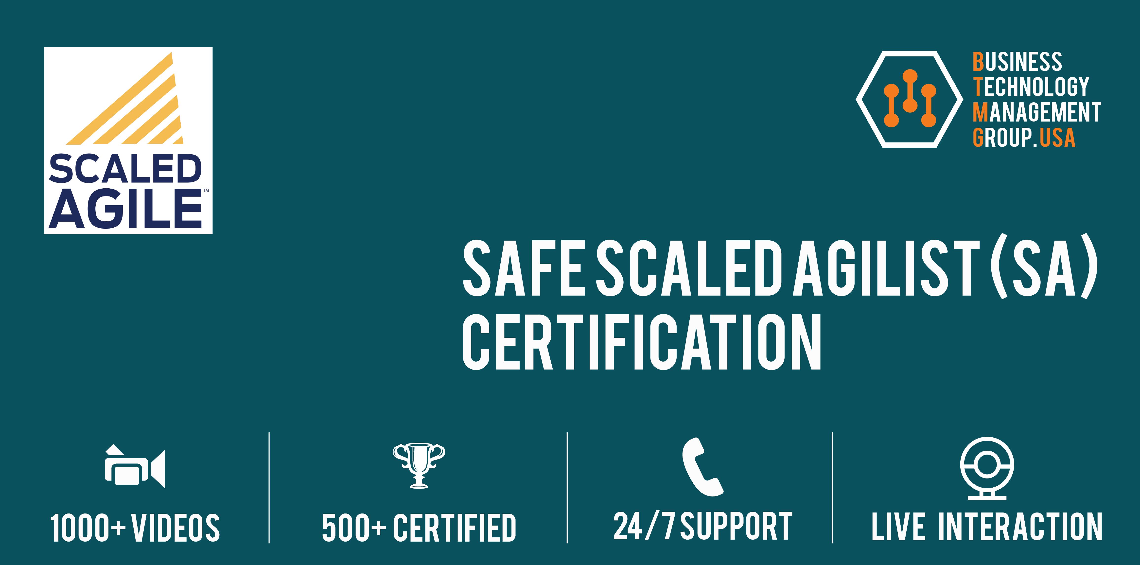 Safe Scaled Agilist Sa Certification