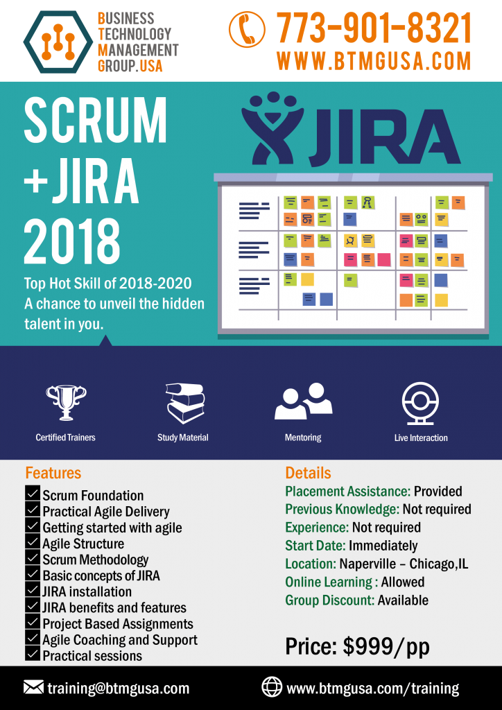 Scrumjira Training Offered By Btmg Usa With Job Placement Assistance